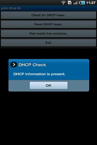 Galaxy Tab DHCP Fix
