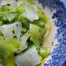 Garlicky Leeks In Olive Oil