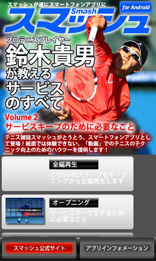Vol2.スマッシュ 鈴木貴男が教えるテニス・サービスのすべ