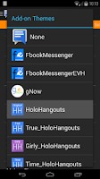 Screenshot of EvolveSMS Theme - HoloHangouts
