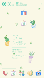 Green Green_ATOM spring theme - screenshot