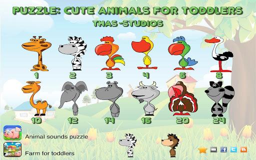 Puzzle: Cute animals HD
