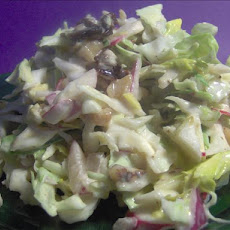 Cranberry-Walnut Cabbage Coleslaw