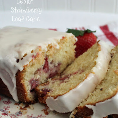 Lemon Strawberry Loaf Cake