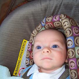 Curious little man by April Grunwald - Babies & Children Children Candids ( curious, road trip, blue eyes, son, boy, baby boy )