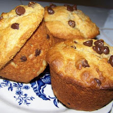 Moist Banana Chocolate Chip Muffins
