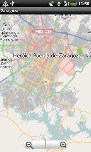 Heroica Puebla de Zaragoza Map