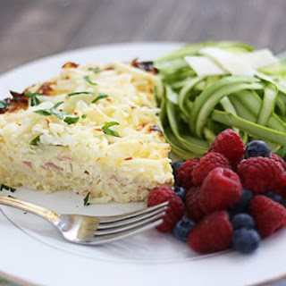 Hash Brown Quiche with Asparagus & Swiss