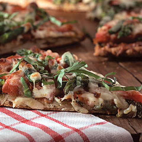 Pizza with Tomatoes, Asparagus, and Basil