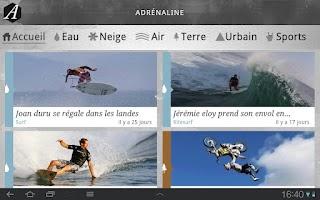 Screenshot of Adrenaline