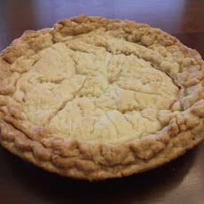 French Rhubarb Pie
