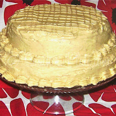 Peanut Butter Cake with Peanut Butter Cream Cheese Frosting