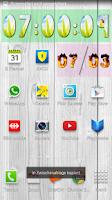 Screenshot of Yaclock digital clock Widget