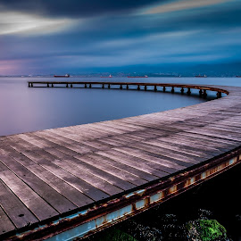 Pier by Rizvan Talha Kaynak - Buildings & Architecture Bridges & Suspended Structures ( waterscape, d300, pier, long exposure, bridge, sunrise, nikon, landscape )