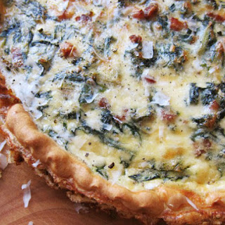 Hearty Chard, Pancetta, and Pecorino Quiche