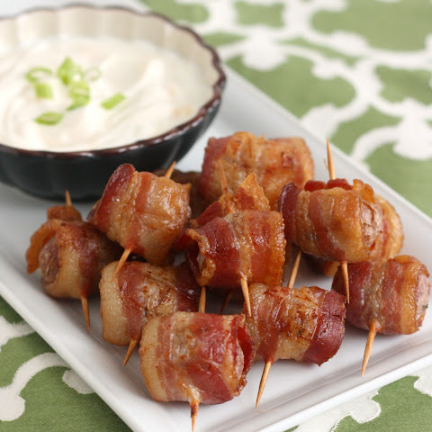 Bacon-Wrapped Potato Bites with Chipotle Sour Cream