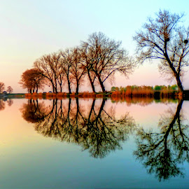 Sunrise on the magical lake.. by Željko Salai - Landscapes Sunsets & Sunrises
