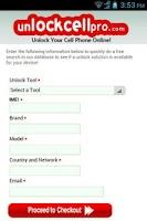 Screenshot of Unlock Cell Phone
