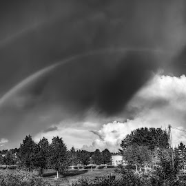 Askim, Norway 090 BW by IP Maesstro - Landscapes Cloud Formations ( black & white, landscape hdr, maesstro, rainbow, askim, norway, black and white, b&w, landscape )