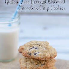 Gluten Free Coconut Oatmeal Chocolate Chip Cookies