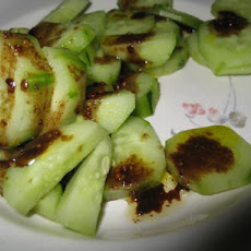 English Cucumber Salad With Balsamic Vinaigrette