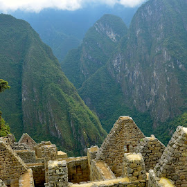 Andes Mountains at Machu Picchu by Tyrell Heaton - Landscapes Travel ( andes mountains at machu picchu )