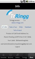 Screenshot of Trringg
