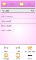 Screenshot of English Czech Dictionary Free