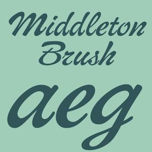 Cover art Middleton Brush Flipfont