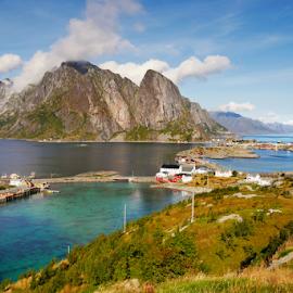 Lofoten • Norway by Petr Podroužek - Landscapes Mountains & Hills ( mountain, sea, lofoten, norway )