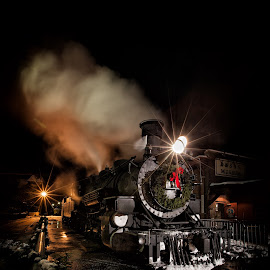 The Polar Express by Donna Fullerton - Transportation Trains ( #trails, #polar_express, #durango_silverton_narrow_gage_railroad )