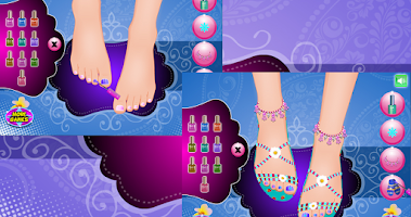 Screenshot of Foot spa for girls - Pedicure