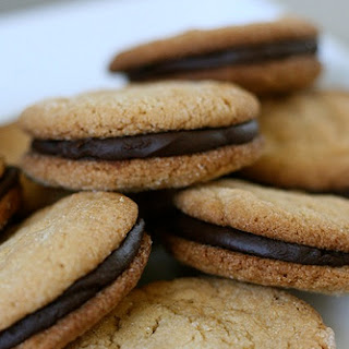 Peanut Butter Chocolate Ganache Sandwich Cookies
