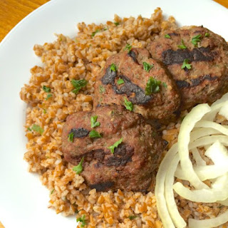 Grilled Lebanese Beef Kafta Patties