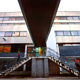 Separations by Irwan Limanto - People Street & Candids ( university, building, stairs, separations, nottingham )