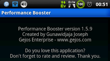 Screenshot of Performance Booster (root)