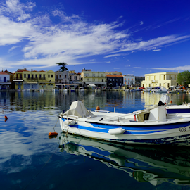 winter in greece by Foto Cook - Transportation Boats ( greece crete rethymno old harbour,  )