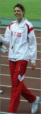Blanka Vlasic bei ihrem Erfolg zur WM 2007 in Osaka