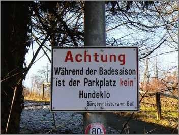 Dann darf am Parkplatz außerhalb der Saison hemmungslos versaut gesaut werden?