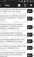 Screenshot of Iron Maiden fan