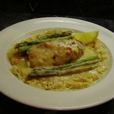 Lemon Asparagus Chicken Rolls With Capellini