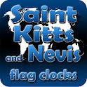 Saint Kitts Nevis flag clocks icon