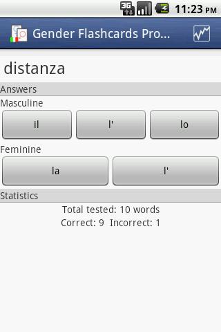 Gender Flashcards Pro Italian