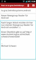 Screenshot of TU Graz Newsreader