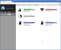 Screenshot of WebSharing (WiFi File Manager)