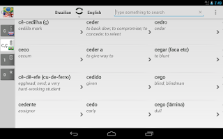 Screenshot of BK Dictionary Brazilian