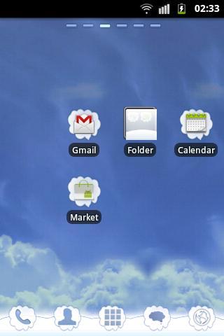 GO Launcher EX ランチャーEXテーマ雲をGO