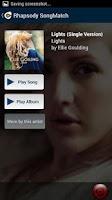Screenshot of Rhapsody SongMatch