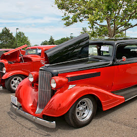 Classics by Luanne Bullard Everden - Transportation Automobiles ( automobiles, red, cars, transportation, classics )