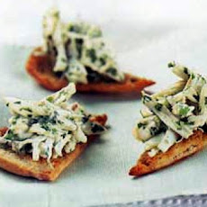 Crab-Meat Parmesan Canapes